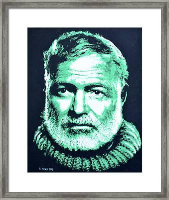 Ernest Hemingway Framed Print