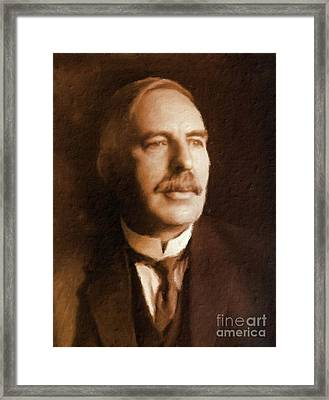 Ernest Rutherford, Scientist By Mary Bassett Framed Print by Mary Bassett