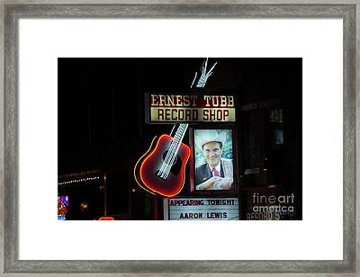 Ernest Tubb Record Shop Framed Print by David Bearden