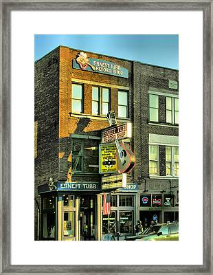 Ernest Tubbs Record Store Framed Print by Steven Ainsworth