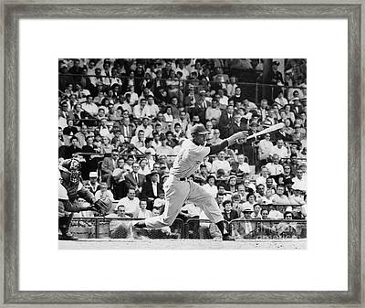 Ernie Banks (1931- ) Framed Print by Granger