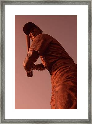 Ernie Banks Sculpture Framed Print by Sven Brogren