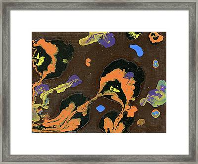 Eroded And Corroded Framed Print