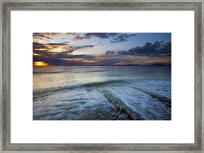 Eroded By The Tides Framed Print by Mike  Dawson
