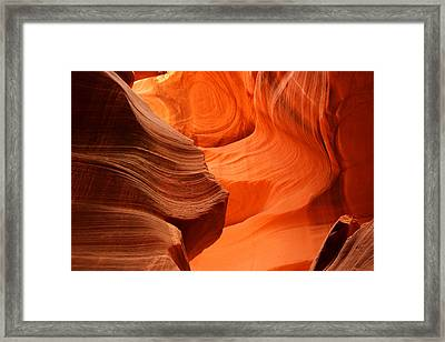 Eroded Framed Print by Eric Foltz