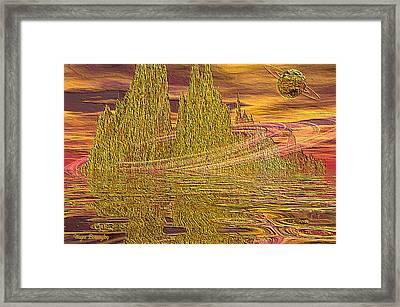 Eroding Gold Framed Print by Wayne Bonney
