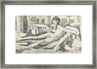 Eros And Aphrodite, 1910 Framed Print by Eric Harald Macbeth Robertson