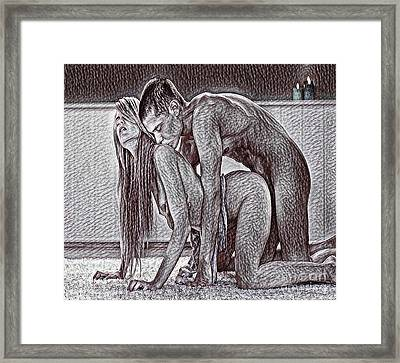 Eros Framed Print by Pd