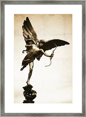Eros Statue Framed Print by Neil Overy