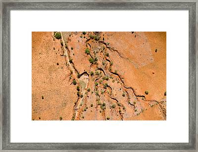 Erosion From Agricultural Use Framed Print by Michael Fay