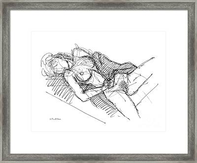 Framed Print featuring the drawing Erotic Art Drawings 7 by Gordon Punt