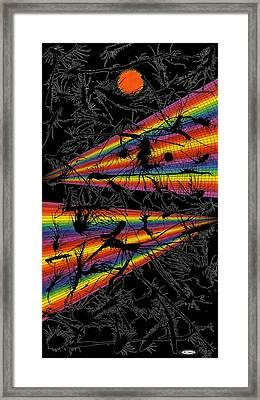 Erratic Drip Framed Print by Ron Jones