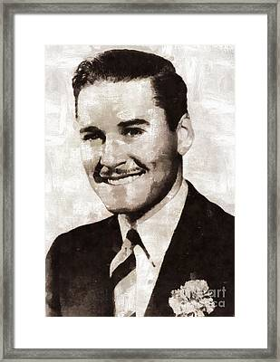 Errol Flynn By Mary Bassett Framed Print