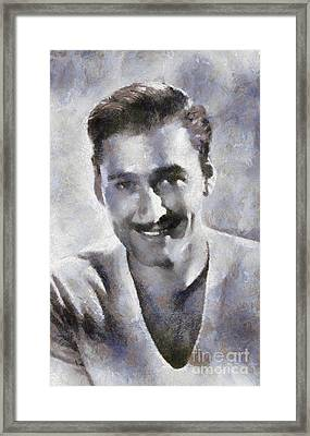Errol Flynn By Sarah Kirk Framed Print