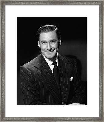 Errol Flynn, Ca. 1940s Framed Print