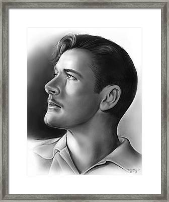 Errol Flynn Framed Print by Greg Joens