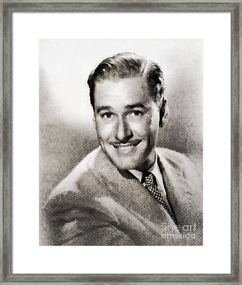 Errol Flynn, Hollywood Legend By John Springfield Framed Print