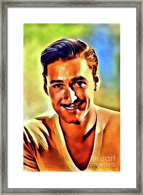 Errol Flynn, Vintage Actor. Digital Art By Mb Framed Print