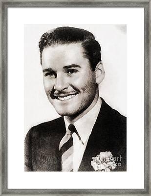 Errol Flynn, Vintage Actor Framed Print