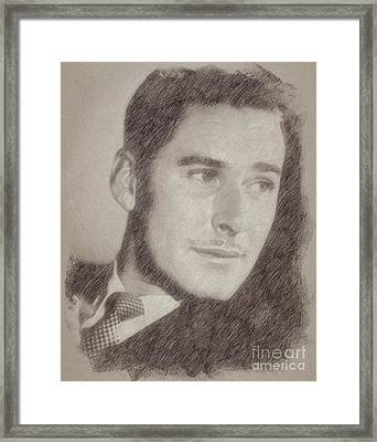 Errol Flynn Vintage Hollywood Actor Framed Print by Frank Falcon