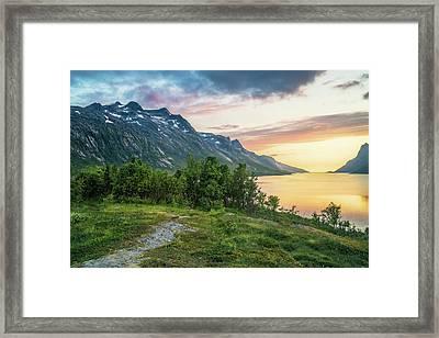 Ersfjord Sunset Framed Print