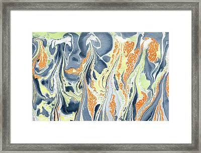 Framed Print featuring the painting Erupting Lava by Menega Sabidussi