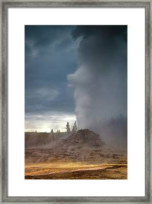 Eruption Framed Print by Edgars Erglis