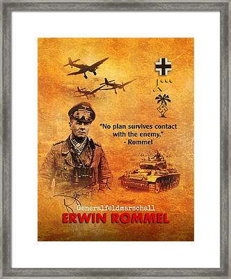 Framed Print featuring the digital art Erwin Rommel Tribute by John Wills