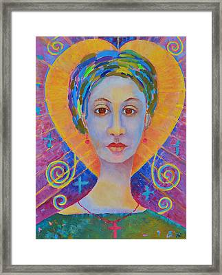 Erzulie Freda Painting. Ezili Freda Portrait Made In Poland By Polish Artist Magdalena Walulik Framed Print by Magdalena Walulik