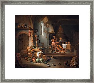 Esau Selling His Birthright Framed Print by Hendrik Martenszoon Sorgh