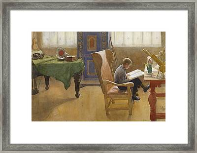 Esbjorn At The Study Corner Framed Print