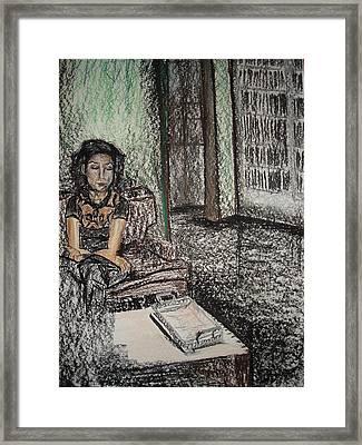 Esboco Framed Print by Ana Picolini