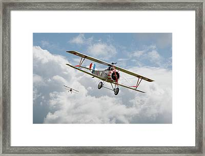 Framed Print featuring the photograph Escadrille Lafayette - Hunters by Pat Speirs