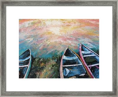 Escalante Canyon Sunrise Framed Print