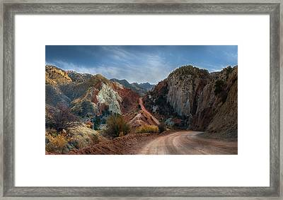 Grand Staircase Escalante Road Framed Print