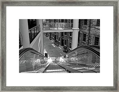 Escalator Going Down In Sydney Framed Print by Kirsten Giving