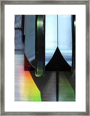 Escalator Rainbow Framed Print