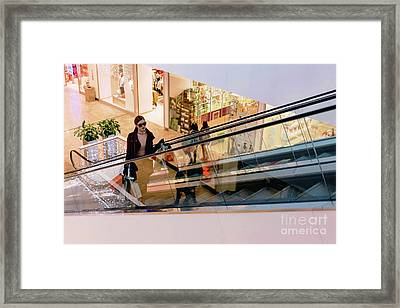 Escalator Tresures Framed Print