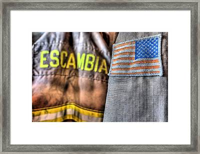 Escambia County Fire And Rescue Framed Print by JC Findley