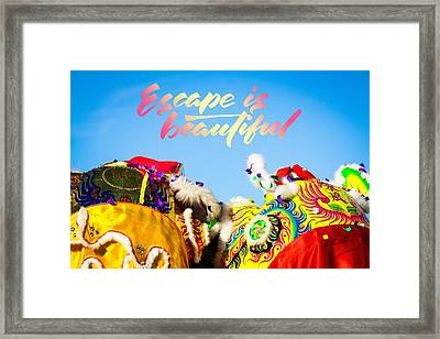 Framed Print featuring the photograph Escape by Bobby Villapando