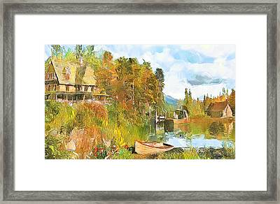 Escape By The Pond Framed Print by Wayne Pascall