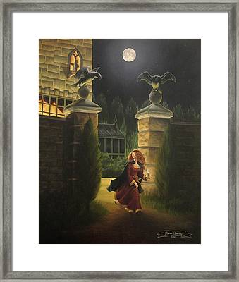 Escape From Raven Manor Framed Print by Karen Coombes