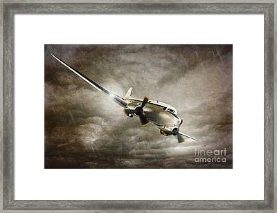 Escape From The Storm Framed Print by Amanda Elwell