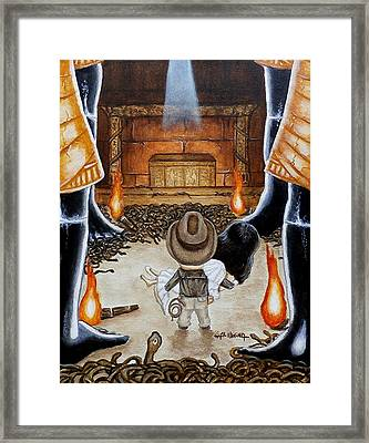 Escape From The Well Of Souls Framed Print by Al  Molina