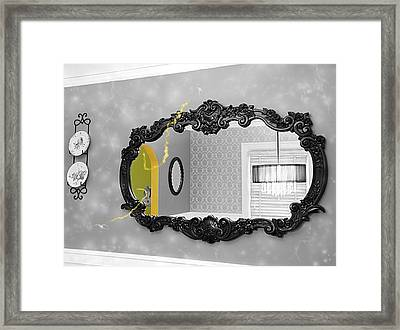 Escape From The Yellow Room Framed Print