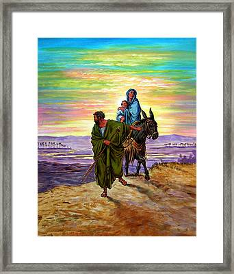 Escape Into Egypt Framed Print