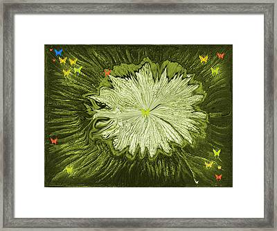 Escape Of The Butterflies Framed Print by Sherri's - Of Palm Springs