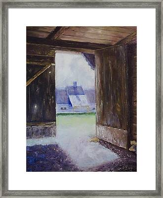 Escape The Sun Framed Print by Stephen King