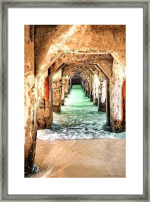 Framed Print featuring the digital art Escape To Atlantis by Pennie  McCracken
