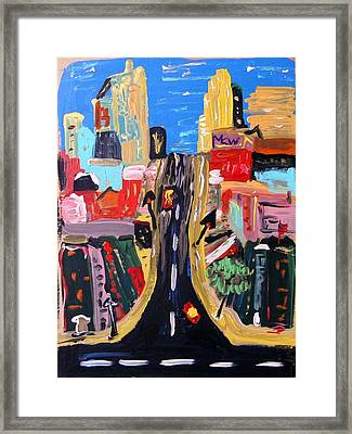 Framed Print featuring the painting Escape To The City by Mary Carol Williams